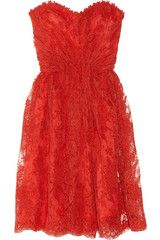 Micah get a Pinterest already! & wear this in my wedding (someday) :)///Bridesmaid dress- blood orange lace