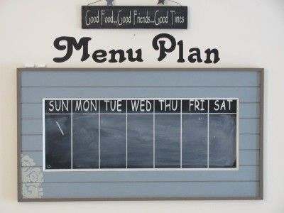 Menu boards, Weekly calendar and Mondays on Pinterest