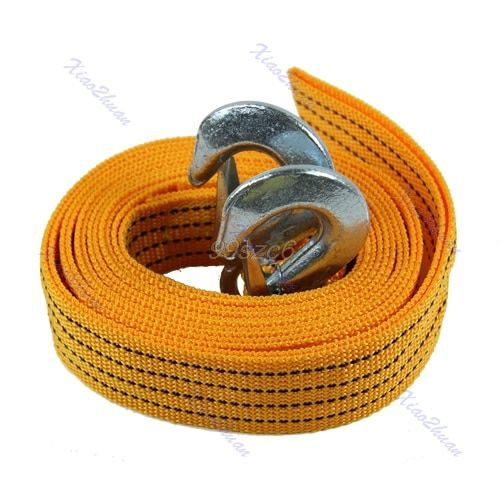 4M Heavy Duty 5 Ton Car Van Tow Cable Towing Pull Rope Strap Hooks Road Recovery