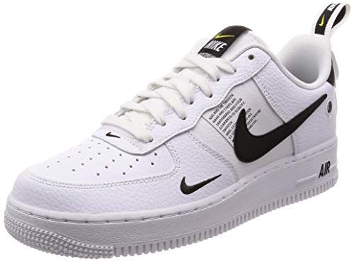 NIKE Men's Air Force 1 07 LV8 Utility, White/White-Black ...
