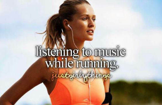 Listening to music while running <3 I love doing that! :)