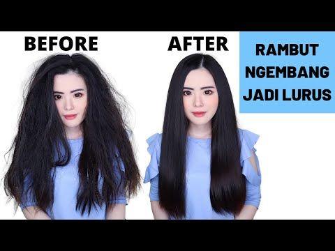 Cara Meluruskan Rambut Mengembang Secara Alami Hasilnya Permanen Youtube Rambut Lurus Produk Rambut Rambut