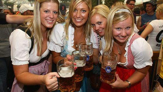 Drink beer at Oktoberfest