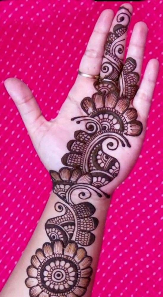 Front Hand Simple Mehndi Design Image