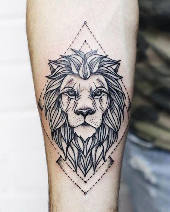 Wrist Lion Tattoo Wrist Tattoo Jovens Tatuados Tatuagens Tatuagem Geometrica