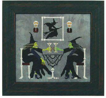 Martini Witches - Cross Stitch Pattern