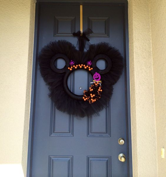 Mickey Mouse Halloween Wreath: