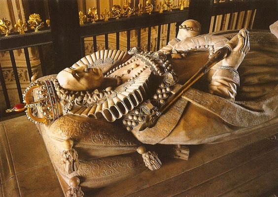 Tomb of Queen Elizabeth I (detail), Westminster Abbey, London, England