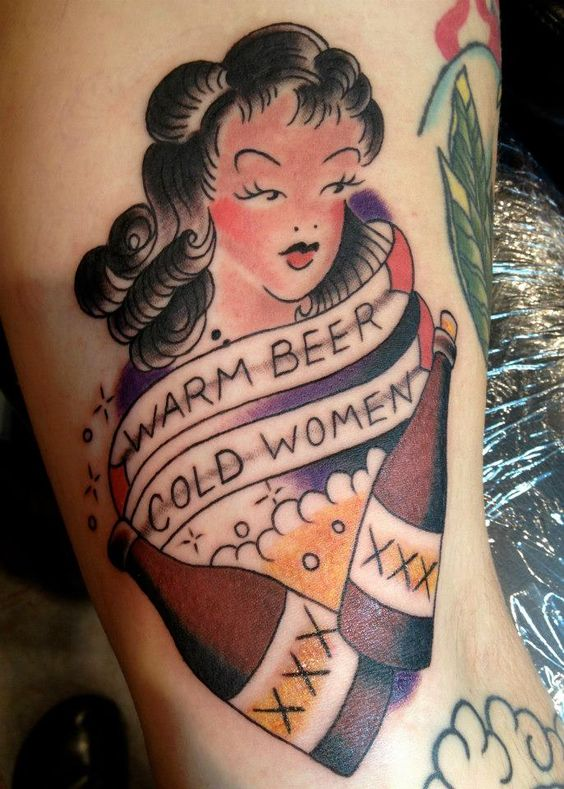 Tom waits sailor jerry tattoo by jo treder at steady for Tom and jerry tattoo