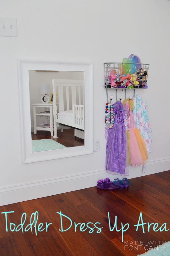 Toddler Princess Dress Up Area!!!! My daughter is OBSESSED!!!! www.maeryanblog.com