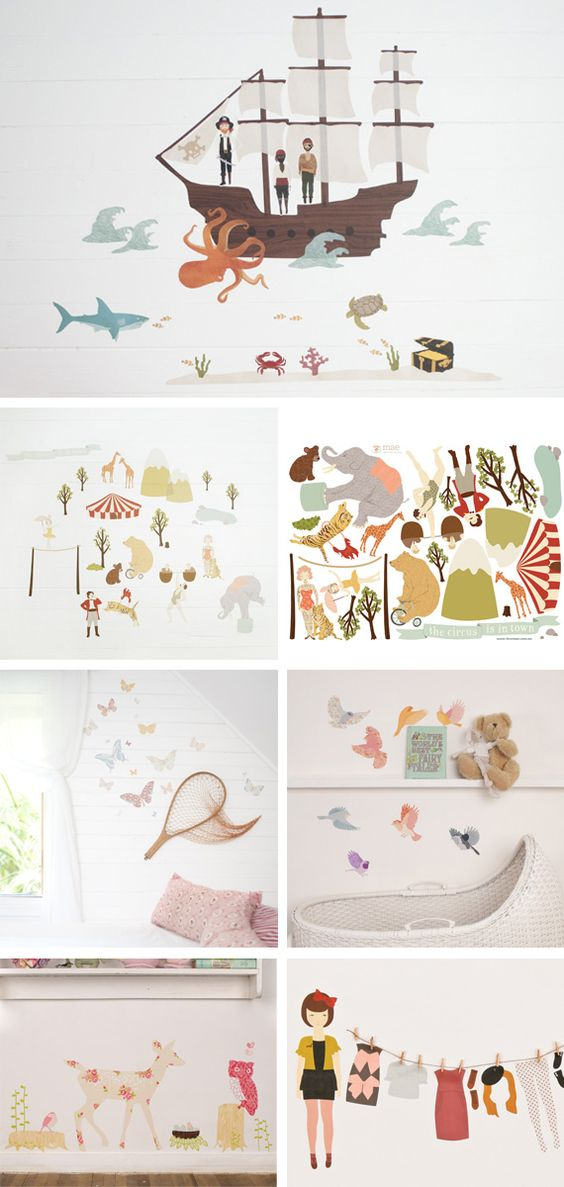 reusable fabric wall decals...hmmm...I think I can make these