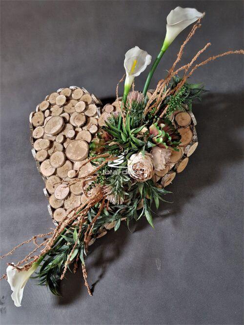Nowoczesne Serce Na Cmentarz Stroiki Na Wszystkich Swietych Modern Floral Arrangements Funeral Floral Flower Arragement