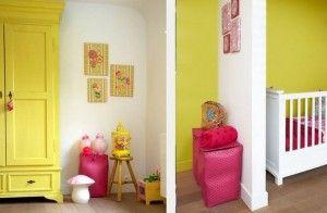 Kamertje geel wit roze