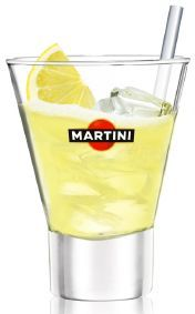 Martini Fizz. My favourite    3 martini bianco (or rosato)  2 lemon juice  1 liquid sugar