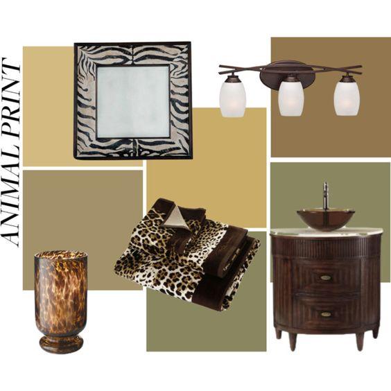 Untitled #12 by speeef on Polyvore featuring interior, interiors, interior design, home, home decor, interior decorating, Minka-Lavery, Roberto Cavalli, bathroom and animalprint