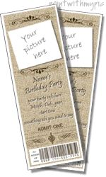 Ticket invitation ticket and invitation templates on for Jack and jill tickets free templates