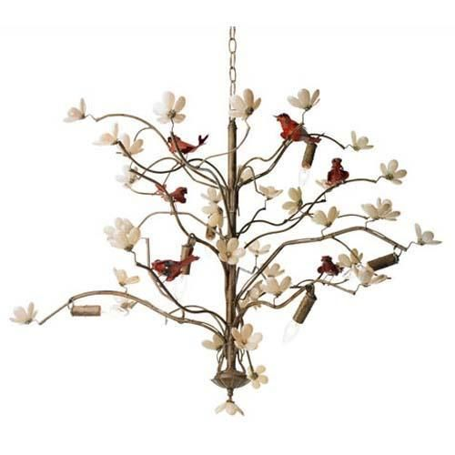modern home lighting with birds decorations