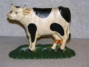 Cast Iron Cow door stopper
