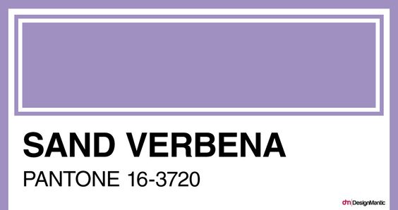 Voilet Verbana: This color is simultaneously as modern as it is nostalgic. https://www.designmantic.com/blog/color-fads-in-graphic-design-2017/