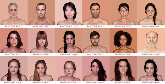 angelica dass classifies the range of human skin tone with the pantone system