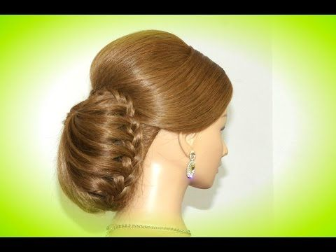 Bridal wedding updo. Hairstyles for long medium hair. Updo hairstyles. - YouTube