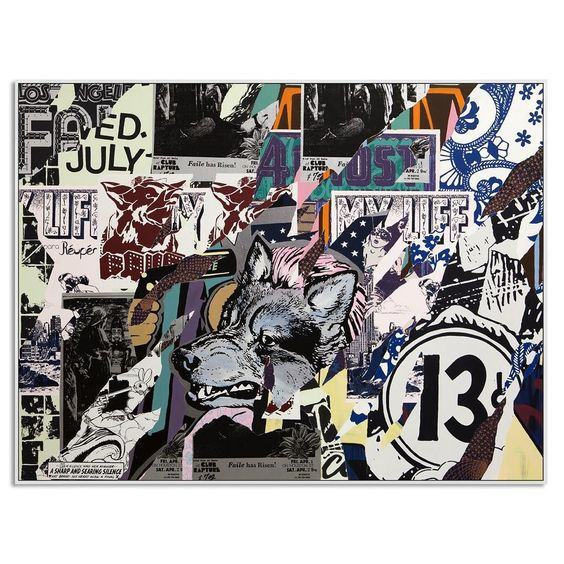 Almost Rapture Acrylic and Silkscreen Ink on Canvas. 72 x 96 Inches. #faile #faileart #savagesacredyoungminds @brooklynmuseum #painting by faileart