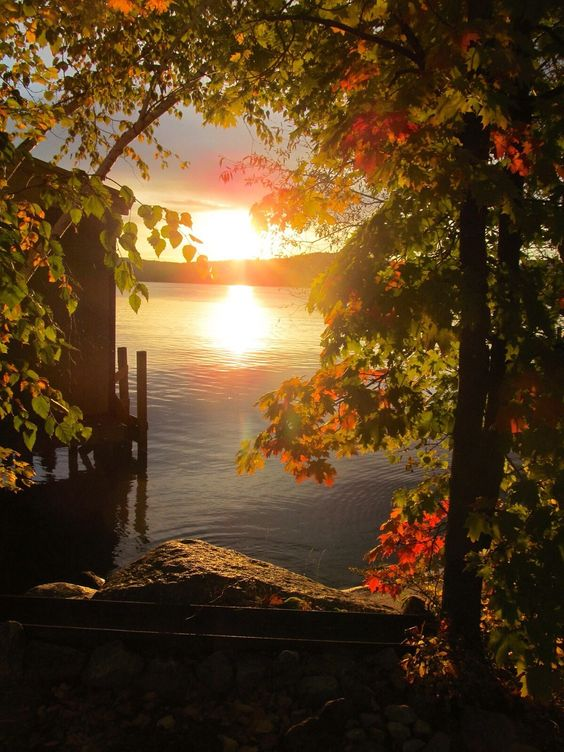 As Cosy As Can Be — kary1954: Autumn Sunrise… New Hampshire
