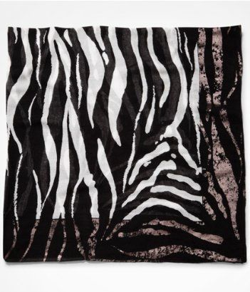 FOILED ZEBRA PRINT SQUARE SCARF | Express I love the scarf. The pattern is amazing and it is so soft!