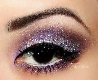 Eye #Makeup - #purple #shimmer