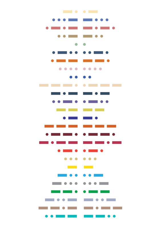 Morse Code by Jakub Stromczynski, via Behance