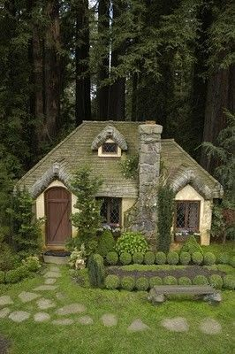 As soon as I saw this, I thought of Edward and Bella's little house in the forest.