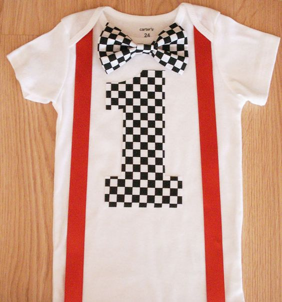Baby boy 1st birthday one piece Birthday race car applique bodysuit Cars birthday party outfit Black and white checkered bow tie Cake smash: