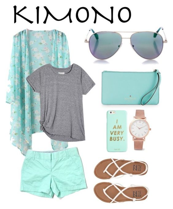 Kimono love by nathalie-arellano on Polyvore featuring polyvore, fashion, style, J.Crew, Billabong, Kate Spade, Larsson & Jennings, Cutler and Gross, ban.do, clothing and kimonos