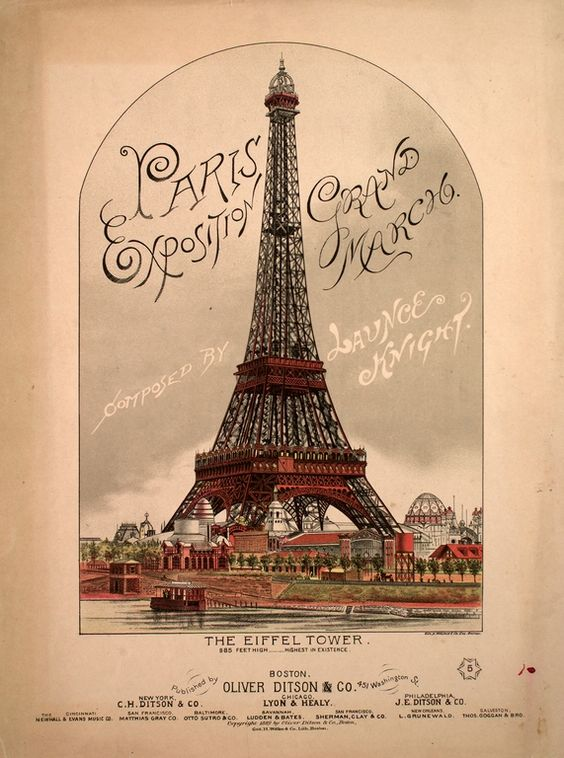 Vintage music cover.                                         Paris #France #Paris