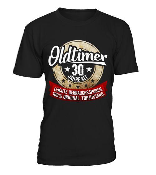 Zum 30 Geburtstag Oldtimer 30 Jahre T Shirt Winter Shirts Papa Shirt