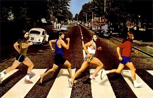Original version of the Abbey Road album sleeve. Boom.