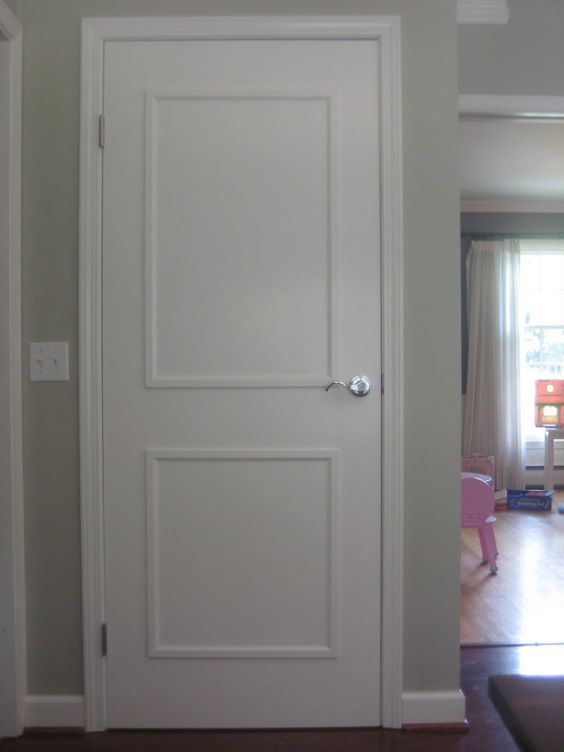 Adding Molding And Paint To 60s Brown Flat Plain Interior Doors Jen 39 S Note Sure It 39 S Cheap To