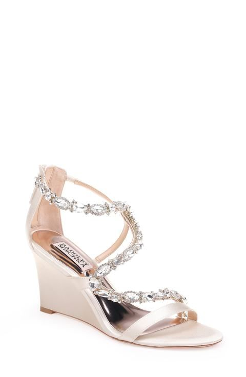 Wedge Wedding Shoes And Sandals Dress For The Wedding Bridal Shoes Wedges Wedge Sandals Wedding Wedge Wedding Shoes