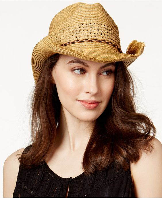 Nine West Nine West Packable Cowboy Hat. A rolled brim gives Nine West's packable cowboy hat a perfectly worn-in look and iconic profile. https://api.shopstyle.com/action/apiVisitRetailer?id=522982771&pid=uid8100-34415590-43