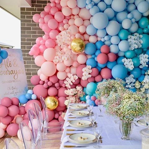 The Event Collective Theeventcollectivex Instagram Photos And Videos Birthday Balloon Decorations Gender Reveal Decorations Party Balloons