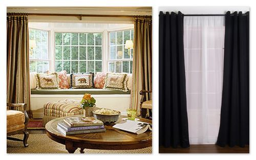 Drapes On The Outside Of The Bay Window Seats Perhaps