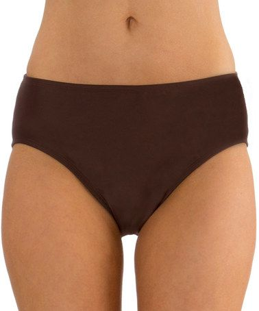 Loving this Brown Control-Top Bikini Bottoms on #zulily! #zulilyfinds