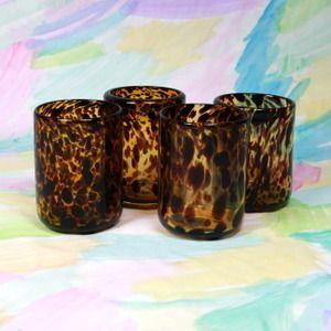 Tortoise Shell Lowball Glasses from shopfurbish.com