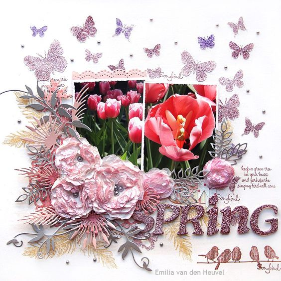 Spring {Sparkle N Sprinkle} - Prima - Sparkling Spring Collection - 6 x 6 Paper Pad