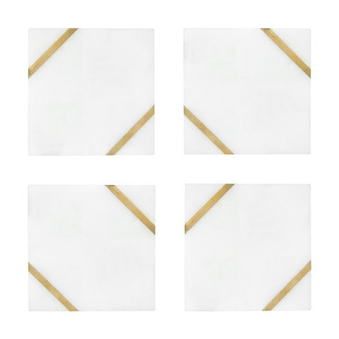 4 Marble Inlay Coasters Kmart Marble Inlay Gold Coasters Christmas Trends