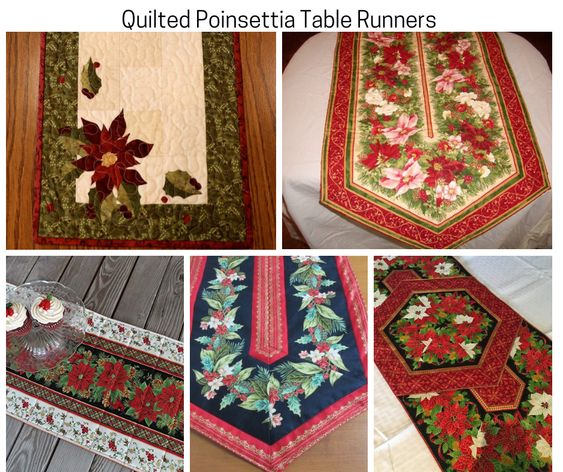 Quilted Poinsettia Table Runners