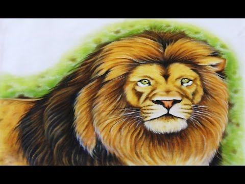 Pintura de Animais - Leão - YouTube