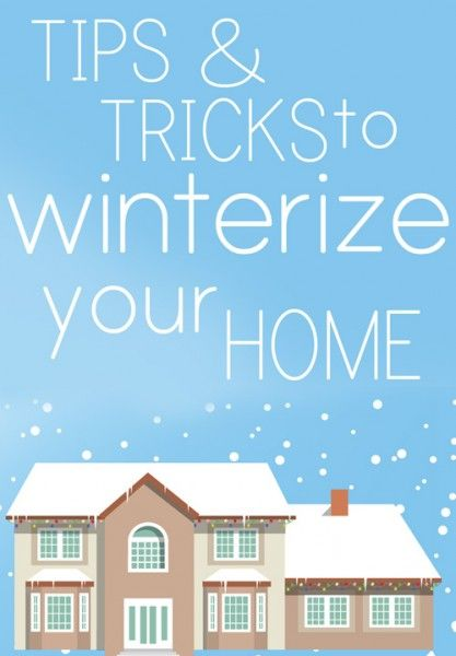 #sponsored post Well now that it's pretty much officially winter, there's a couple home maintenance tasks you'll need to cross off your list. Here are some tips and tricks to follow to winterize your home… 1. Watch for Drafty Doors and Windows Make sure the weatherstripping on your doors is in place and you're not …