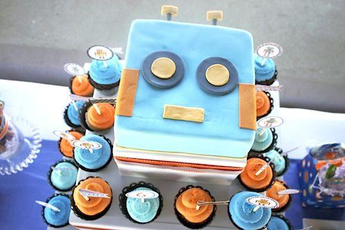 Super cute robot party!