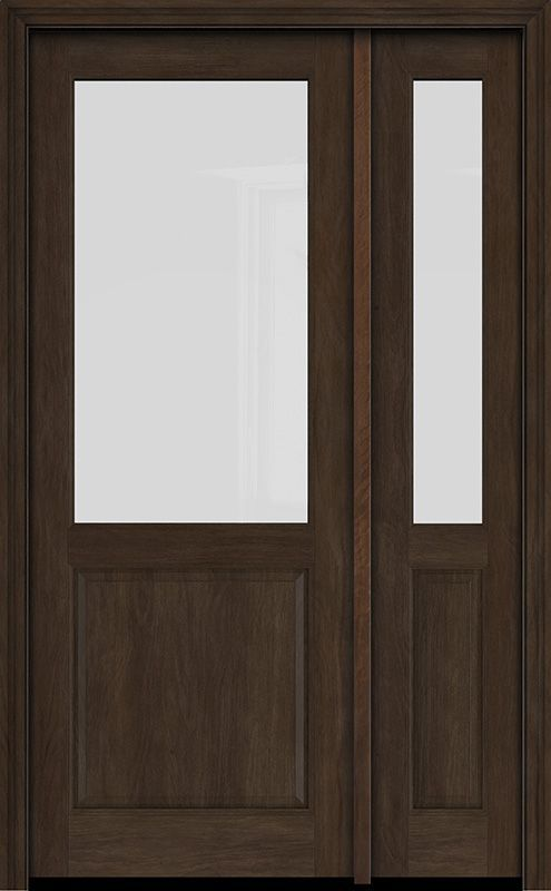 1 2 Lite Mahogany Single Entry Door Sidelite Single Entry Doors Entry Doors Transitional Doors